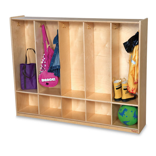 Wood Designs™ Five-Section Locker