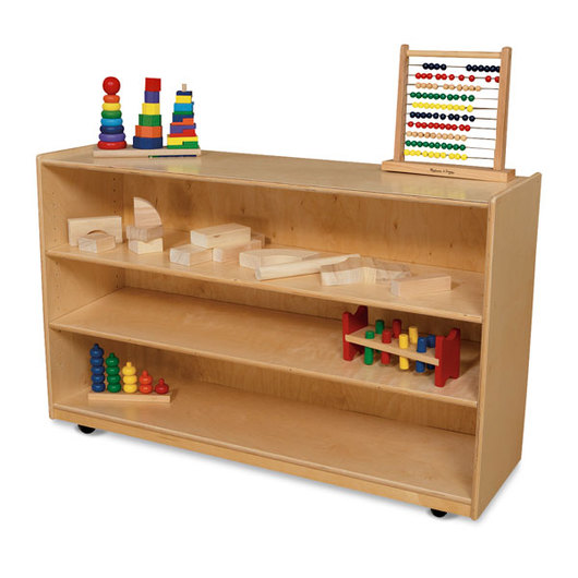 Wood Designs™ Mobile Shelf Storage 58 in. L
