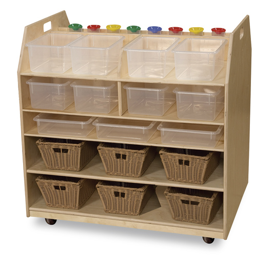 Wood Designs™ Trolley Art Cart with Translucent Trays