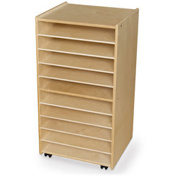 Wood Designs™ Contender™ Mobile Paper and Puzzle Storage Center, Assembled