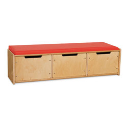 Wood Designs™ Contender™ Reading Benches with Drawers Fully Assembled