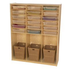 Wood Designs™ Cubby Locker With 18 Translucent Trays