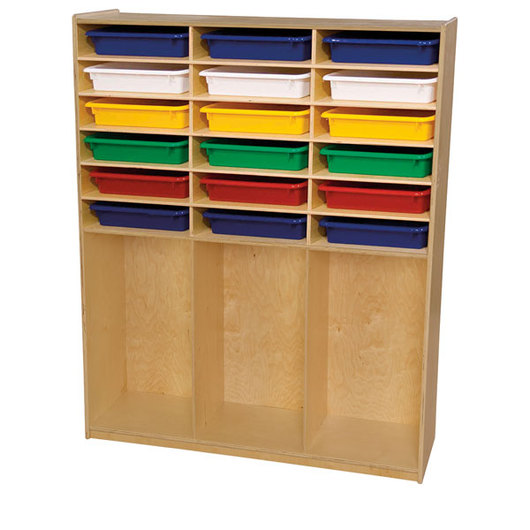 Wood Designs™ Cubby Locker With 18 Assorted Trays