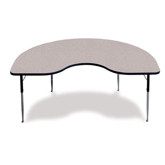 Allied F5 Series Kidney-Shaped Table - 36 x 72 - Gray Nebula
