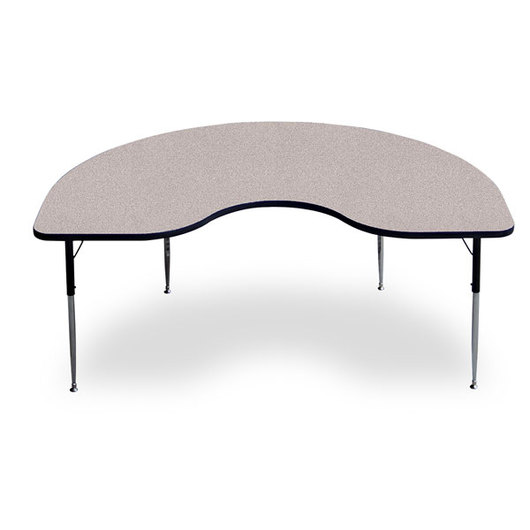 Allied F5 Series Kidney-Shaped Table - 48 in. x 72 in. - Gray Nebula