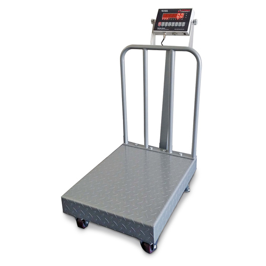 Bench Scale with Back Rail & Wheels