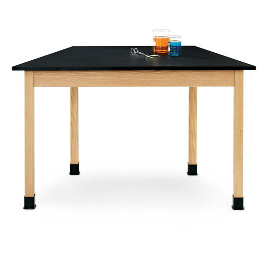 24 in. L Chemguard/Maple Trapezoid Table