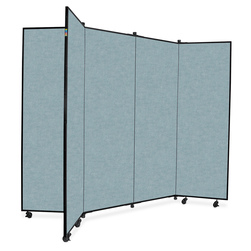 Six-Wing Portable Display Tower - 6 ft. 5 in. H - Gray Smoke
