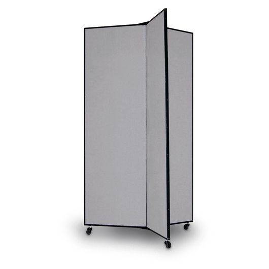 Light-Duty Room Divider - Three Panels - Gray Smoke
