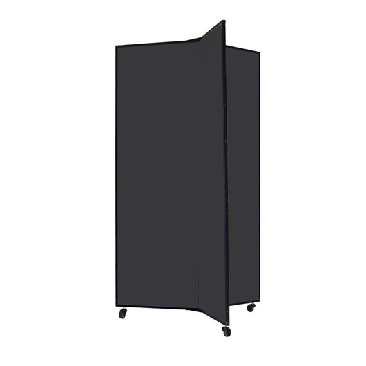 Light-Duty Room Divider - Three Panels - Charcoal