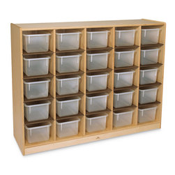 Whitney Brothers Clear ToteTray Storage Cabinet with 25 Trays