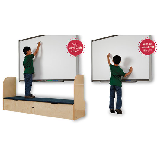 Jonti-Craft® iRise® Deluxe Interactive Whiteboard Step - 25-1/2 in. H x 49-1/2 in. W x 21 in. D, 9 in. Step Height