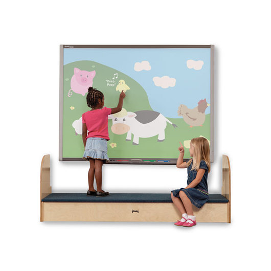 Jonti-Craft® iRise® Standard Interactive Whiteboard Step - 25-1/2 in. H x 73-1/2 in. W x 21 in. D, 9 in. Step Height