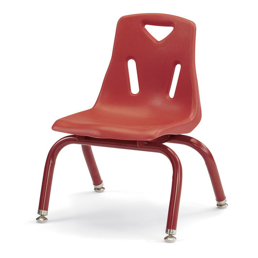 Berries® Stacking Chair - Red - 10 in. H Seat