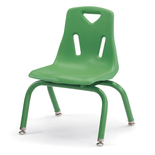 Berries® Stacking Chair - Green - 10 in. H Seat