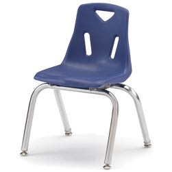 Berries® Stacking Chair - Navy - 14 in. H Seat
