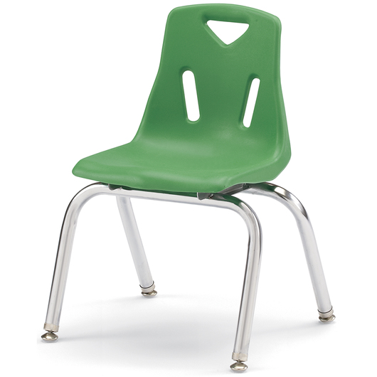 Berries® Stacking Chair - Green - 14 in. H Seat