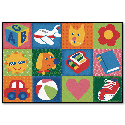 Kids Value Rugs™ - 4 ft. x 6 ft. - Toddler Fun Squares Rug