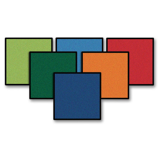 Kids Value Rugs™ - 16 in. Carpet Squares - Set of 24