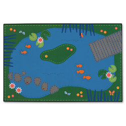 Kids Value Rugs™ 6 ft. x 9 ft., Tranquil Pond