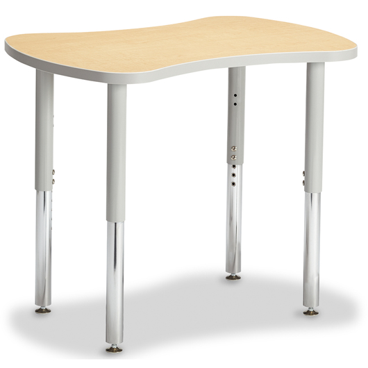 Berries® Collaborative Bowtie Table - 24 in. x 35 in. Tabletop - Maple/Gray