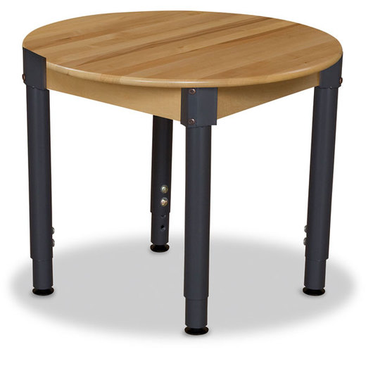 Wood Designs™ 30 in. Round Wooden Table - 18 in.-29 in. Adjustable Legs