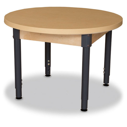 Wood Designs™ High-Pressure Laminate Table - Round - 36 in. dia. x 18 in. - 29 in. H Adjustable Leg
