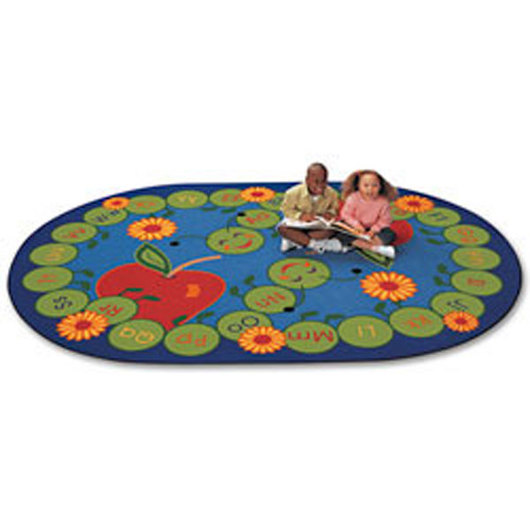 ABC Caterpillar Rug - Oval - 6 ft. 9 in. x 9 ft. 5 in.