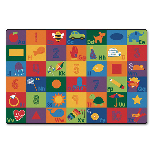 Sequential Seating Literacy Rectangle Rug - 4 ft. x 6 ft.