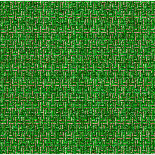 Flagship Carpet - All-Over Weave - Green - 5 ft. 10 in. x 8 ft. 4 in.