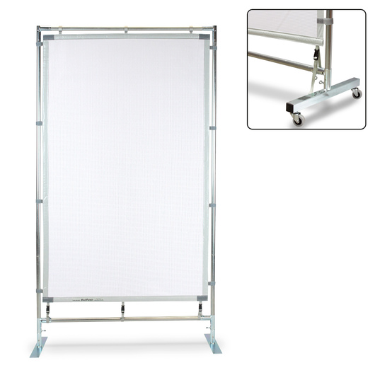 Freestanding Mesh Panel - 4 ft. x 7 ft. - with Wheels