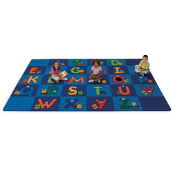 Reading Letters Library Rug - 8 ft. 4 in. x 13 ft. 4 in., Rectangle