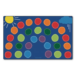 Rainbow Seating Rug - 7 ft. 6 in. x 12 ft., Rectangle - 15 in. Seat Size