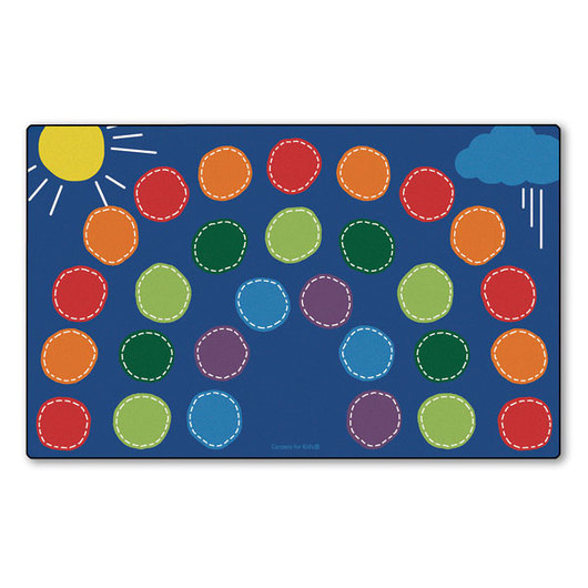 Rainbow Seating Rug - 8 ft. 4 in. x 13 ft. 4 in., Rectangle - 17 in. Seat Size