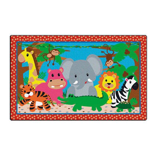 Flagship Carpets® - Rectangle Cutie Jungle Rug™ - 5 ft. x 8 ft.