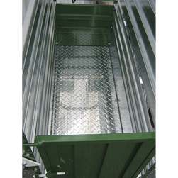 36 in. L Aluminum Diamond Plate Floor