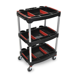 Luxor Mechanics 3-Shelf Cart