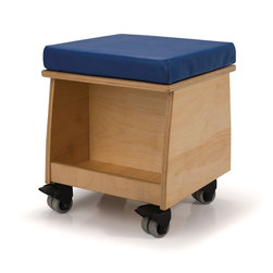 Whitney Brothers Book Lovers Teachers Rolling Stool