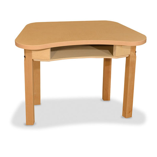 Wood Designs™ Synergy High Pressure Laminate Desk - 18 in. x 30 in. with 18 in. Hardwood Legs Without Casters