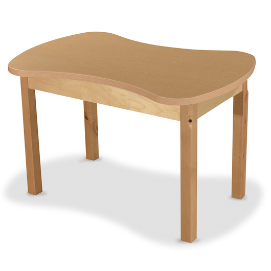 Wood Designs® Synergy High Pressure Laminate Table - 24 in. x 36 in. with 18 in. Hardwood Legs Without Casters
