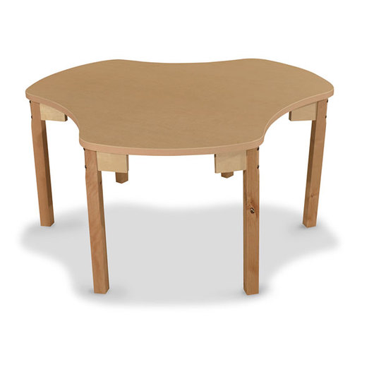 Wood Designs® Synergy High Pressure Laminate Group Table - 44 x 48 with 16 Hardwood Legs Without Casters