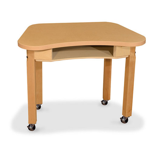 Wood Designs® Synergy High Pressure Laminate Desk - 18 in. x 30 in. with 16 in. Hardwood Legs and 4 Locking Casters
