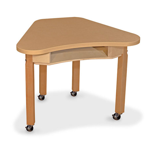 Wood Designs® Synergy High Pressure Laminate Deep Desk - 24 in. x 30 in. with 24 in. Hardwood Legs and 4 Locking Casters