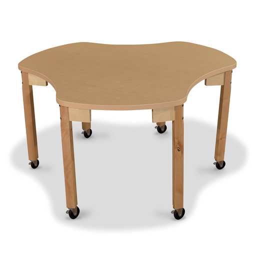 Wood Designs® Synergy High Pressure Laminate Group Table - 44 x 48 with 14 Hardwood Legs and 4 Locking Casters