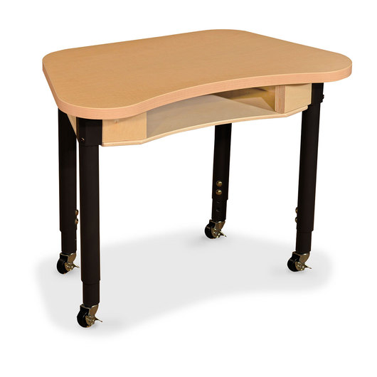 Wood Designs® Synergy High Pressure Laminate Desk - 18 in. x 30 in. with 20 in.-31 in. Adjustable Legs and 4 Locking Casters