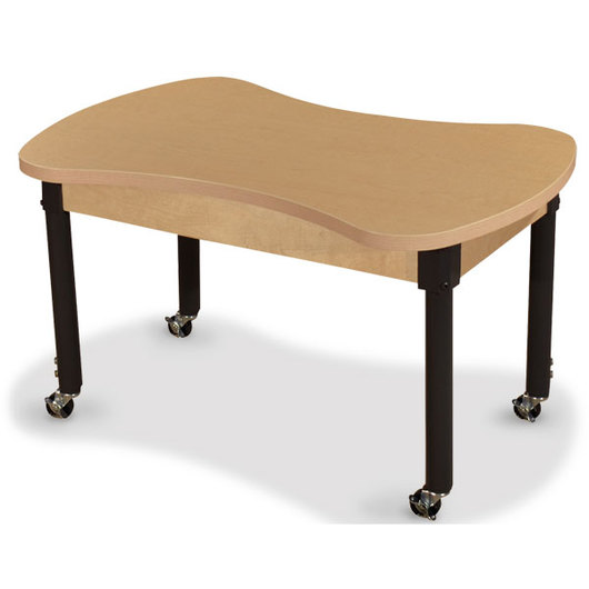 Wood Designs™ Synergy High Pressure Laminate Table - 24 in. x 36 in. with 20 in.-31 in. Adjustable Legs and 4 Locking Casters