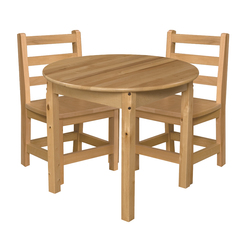 Wood Designs Hardwood Table and Chair Set