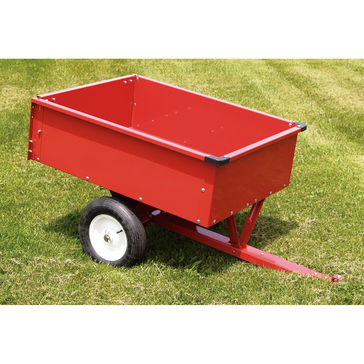 Trailing Dump Cart - 10 Cubic Foot Bed - 33 in. Axle - 500 lbs. Load Capacity