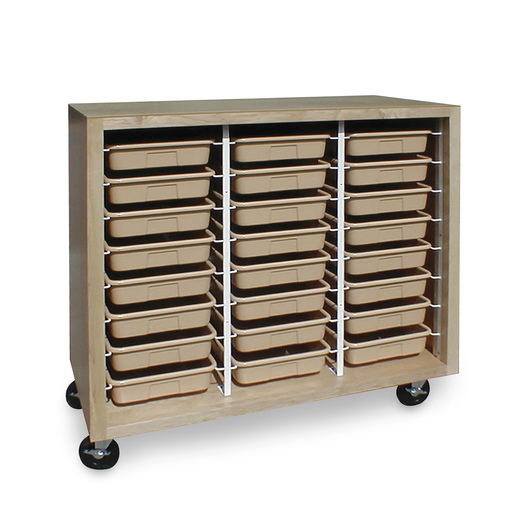 Mobile Tote Tray Storage Cabinet With 24 Trays Cabinets Racks Furniture Art Supplies Crafts Nasco