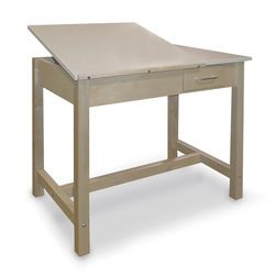 Drawing Table with 24 in. x 24 in. Split Adjustable Top and Small Storage Drawer